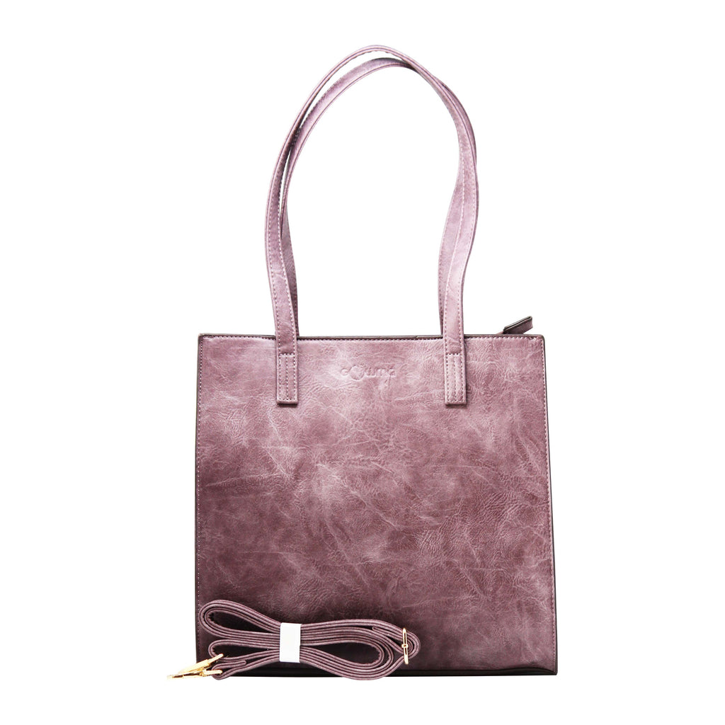 Handbag - Rectangular Boarded (RB-Plum) - Gowma Non Leather Pvt Ltd
