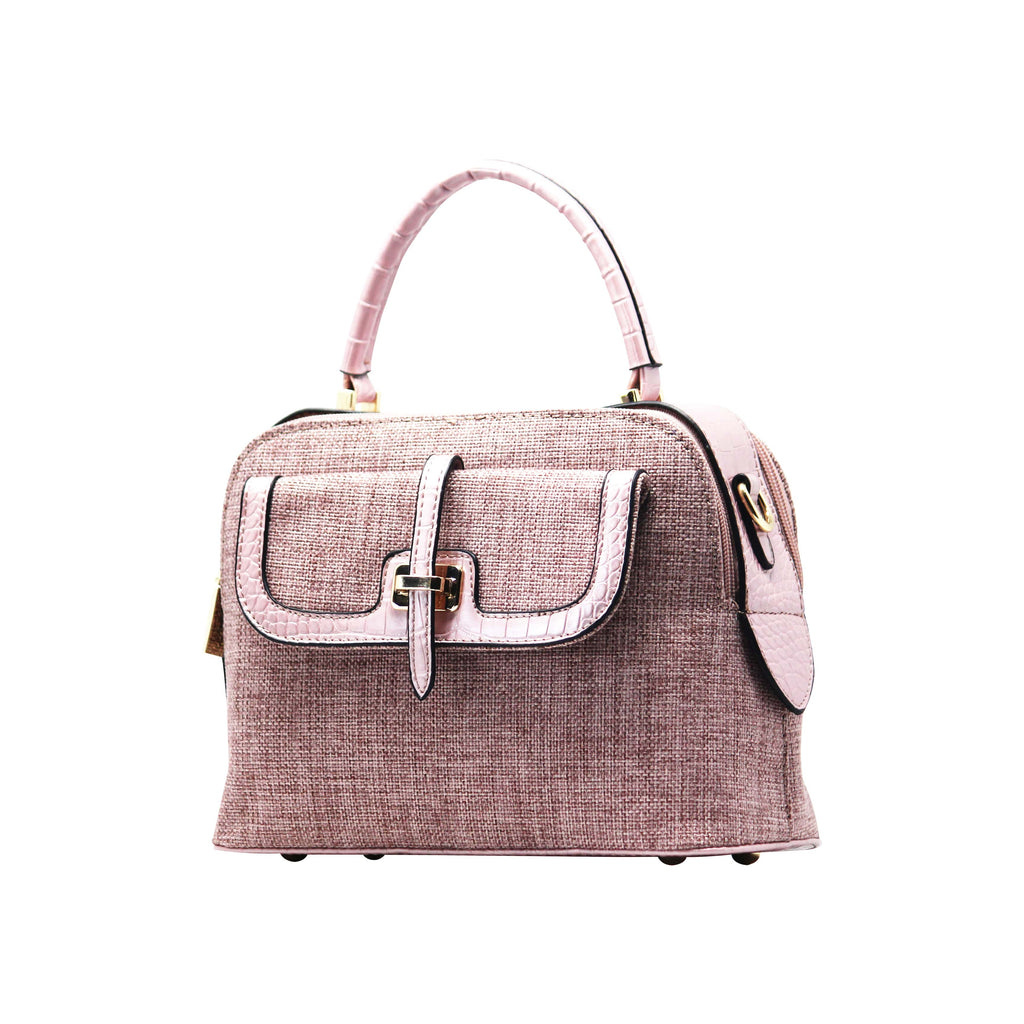 Handbag Cum Sling  (DF-Pink) - Gowma Non Leather Pvt Ltd