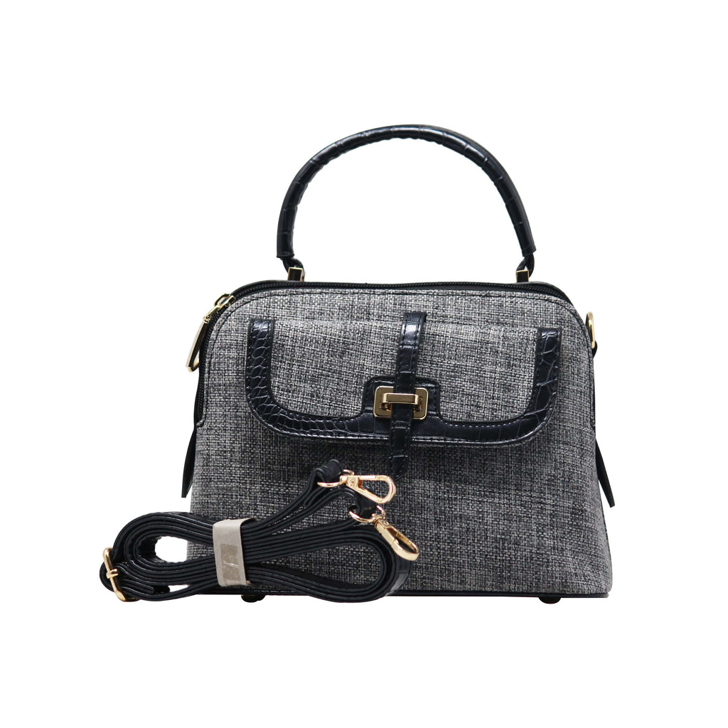 Handbag Cum Sling  (DF-Black) - Gowma Non Leather Pvt Ltd