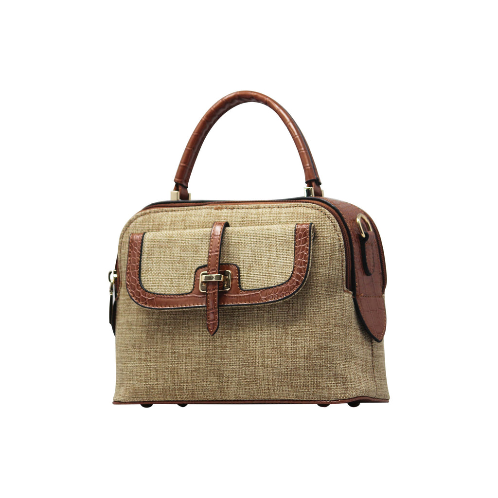 Handbag Cum Sling  (DF-Brown) - Gowma Non Leather Pvt Ltd