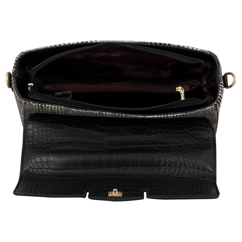 Handbag (CLP) - Black - Gowma Non Leather Pvt Ltd