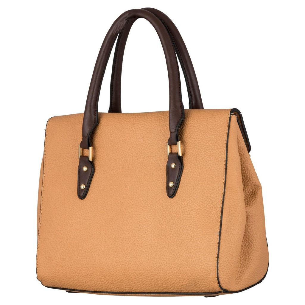Handbag (ZS-Beige Coffee) - Gowma Non Leather Pvt Ltd