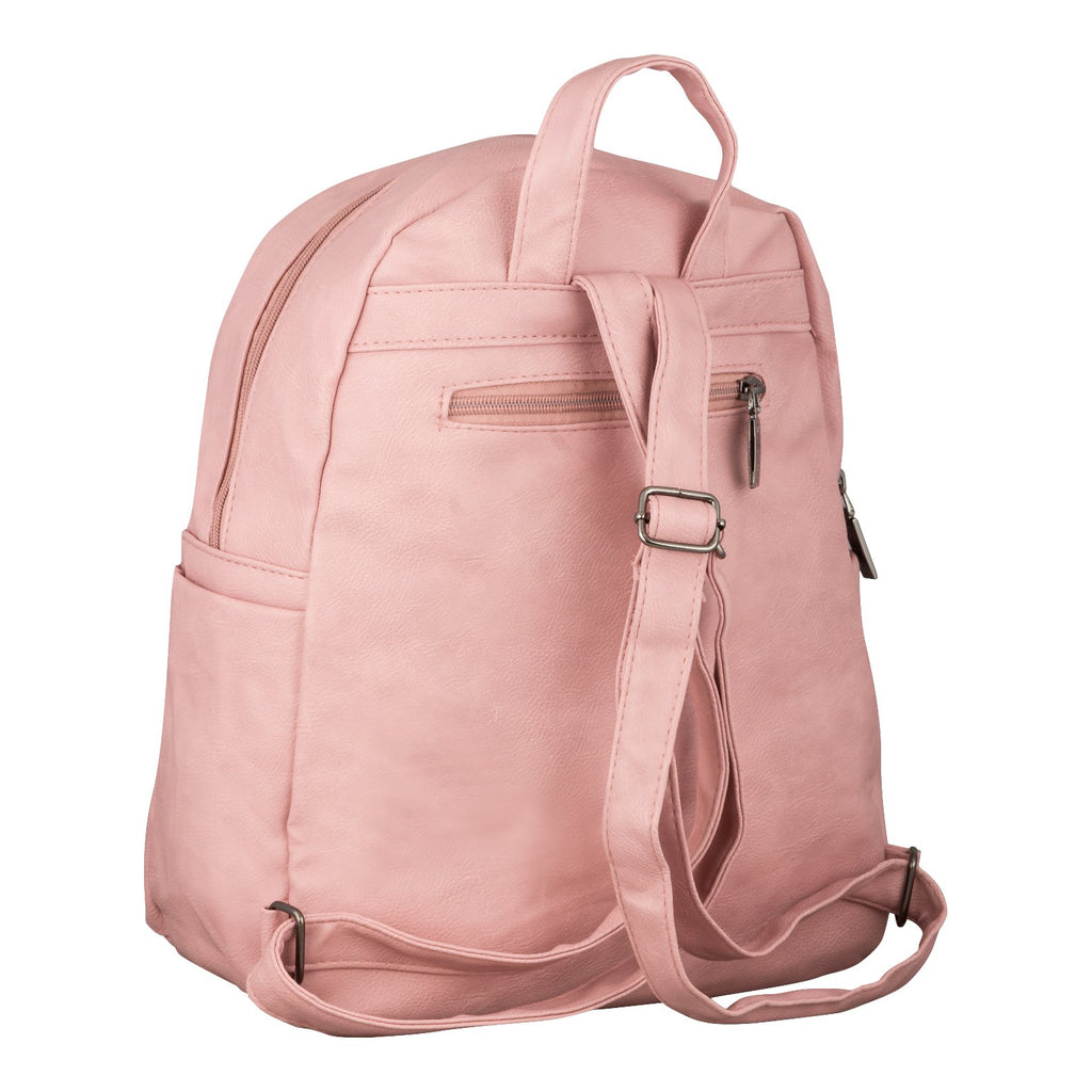 backpack - Ladies(2 zipper) - Pink - Gowma Non Leather Pvt Ltd