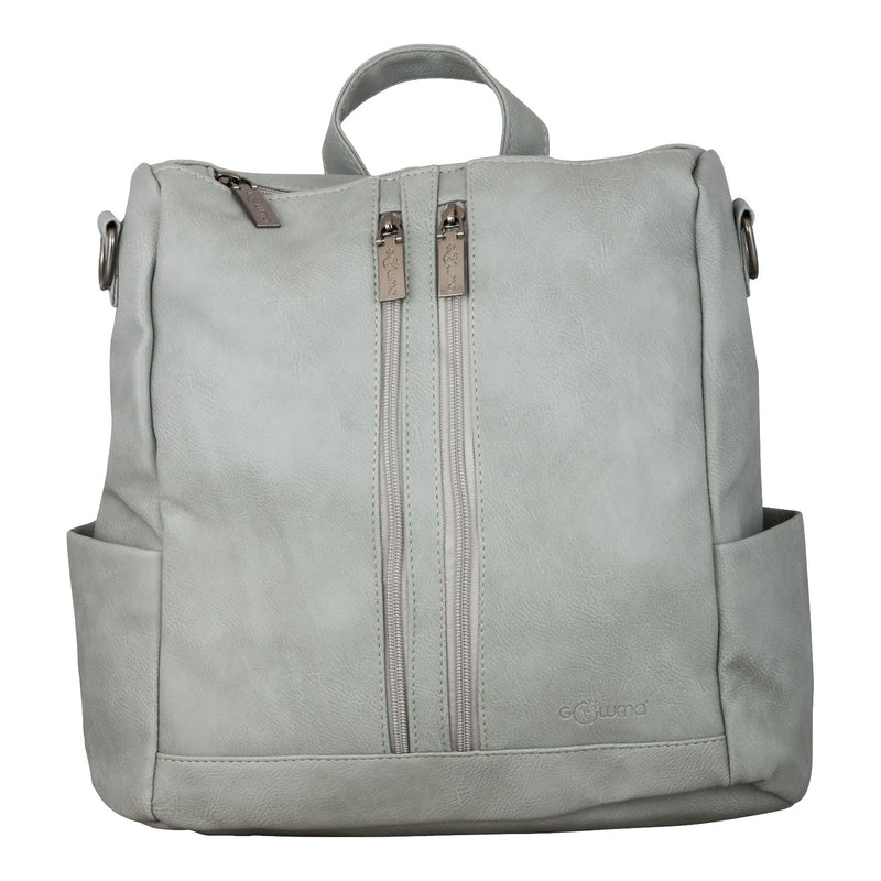 backpack - Ladies bag (2 zipper) - Grey - Gowma Non Leather Pvt Ltd
