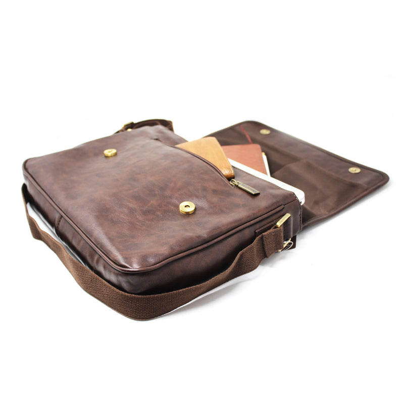 A4 Sling Bag Brown-gowma_non_leather