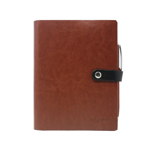 Diary - A6 dateless notebook with pen - Brown