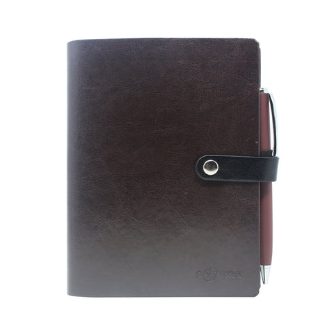 Diary - dateless diary with pen- Black
