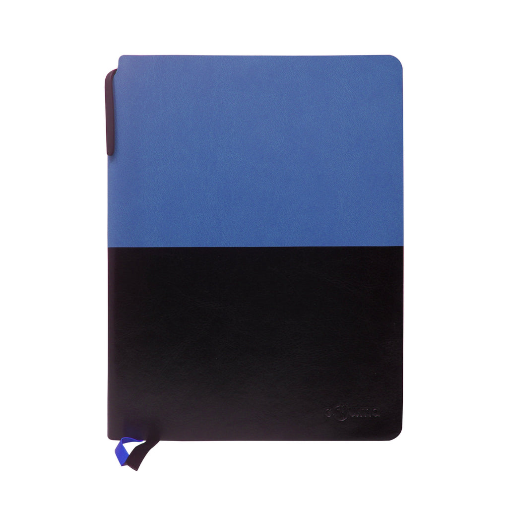 Diary - A5 dateless notebook with pen - Blue - Gowma Non Leather Pvt Ltd