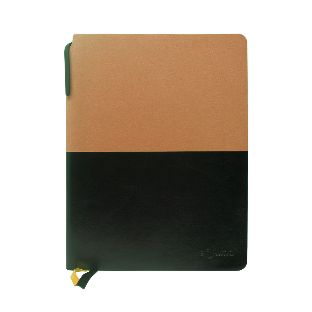 Diary - A5 dateless notebook with pen - Brown - Gowma Non Leather Pvt Ltd