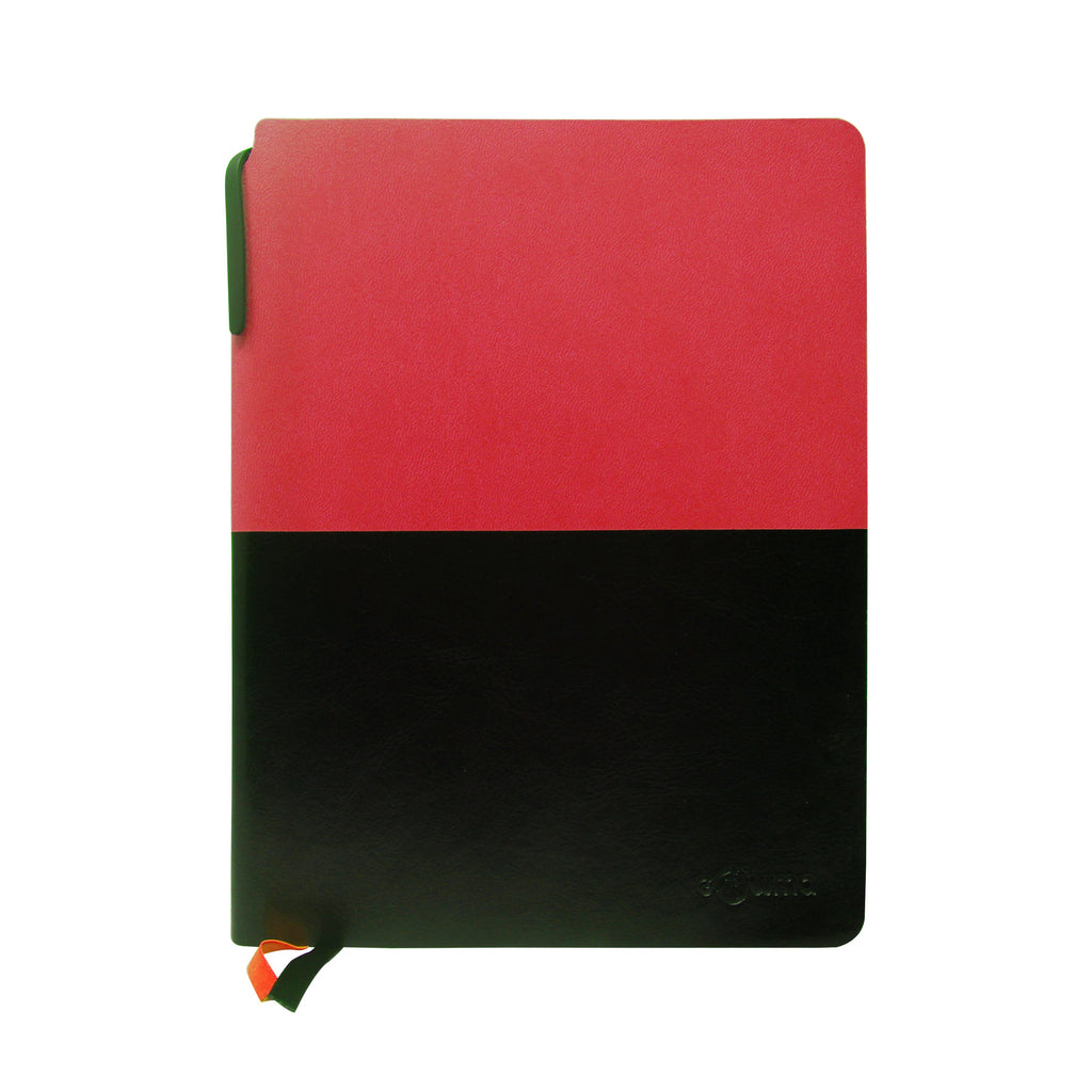 Diary - A5 dateless notebook with pen - Red - Gowma Non Leather Pvt Ltd
