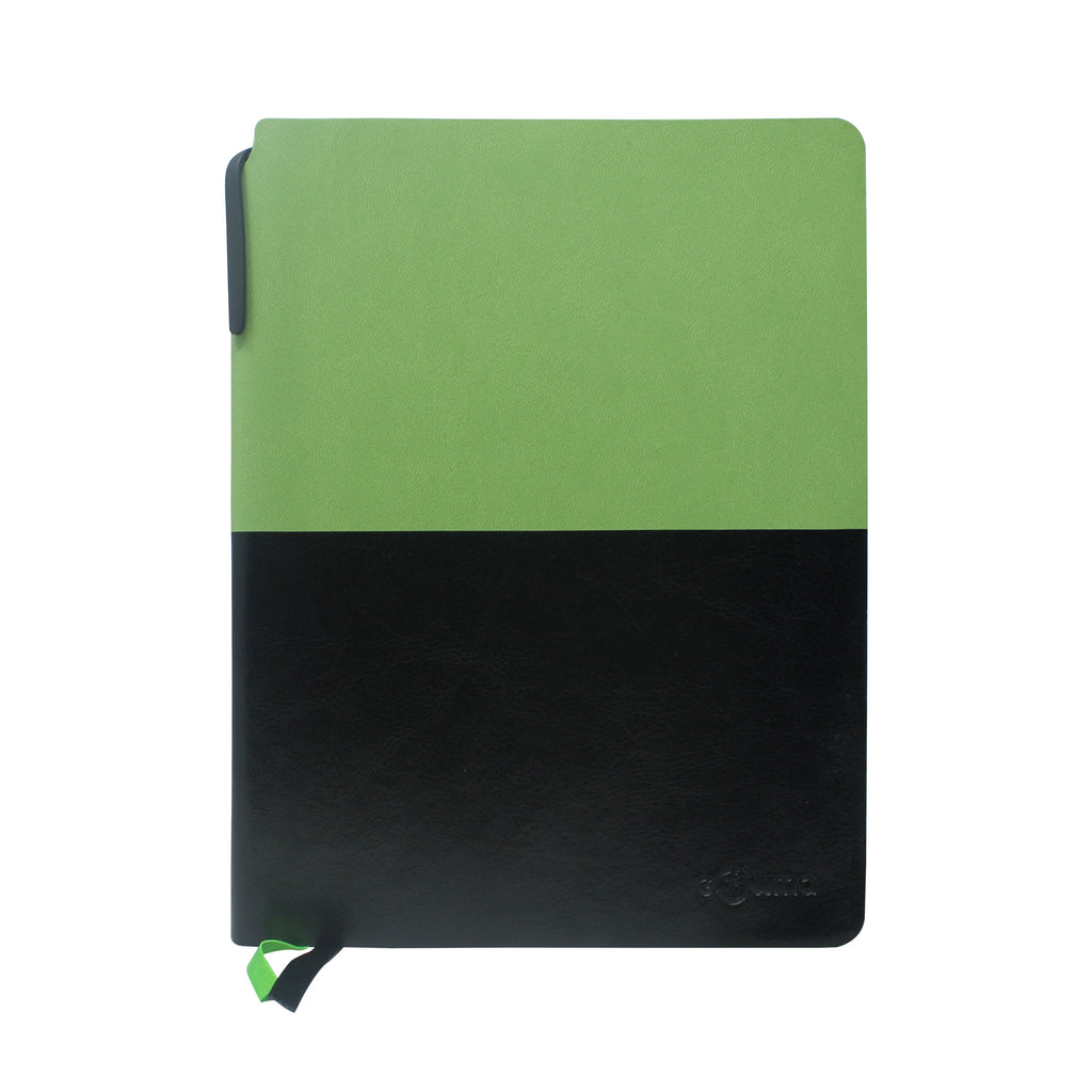 Diary - A5 dateless notebook with pen - Green - Gowma Non Leather Pvt Ltd