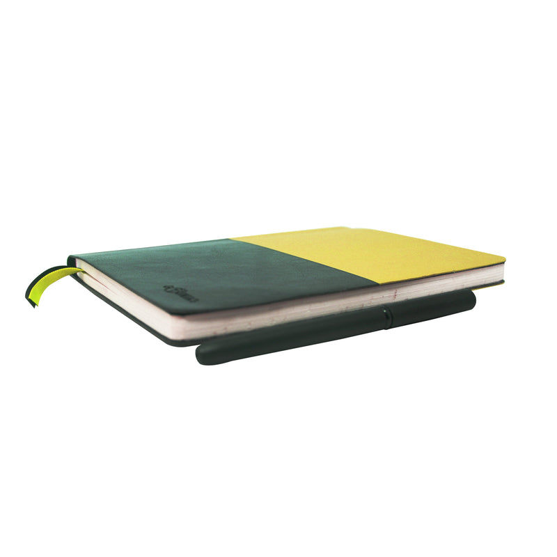 Diary - A5 dateless notebook with pen - Yellow - Gowma Non Leather Pvt Ltd