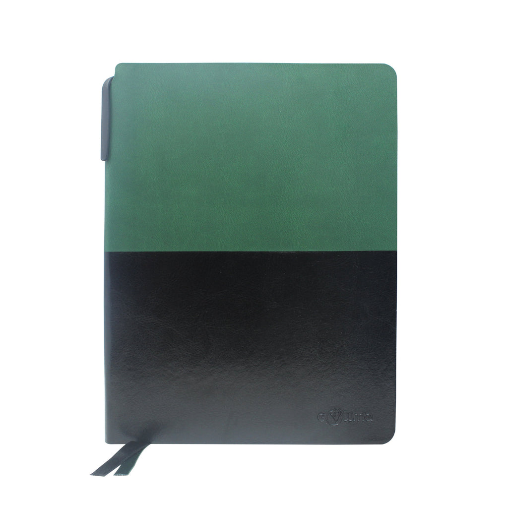 Diary - A5 dateless notebook with pen - Dark Green - Gowma Non Leather Pvt Ltd