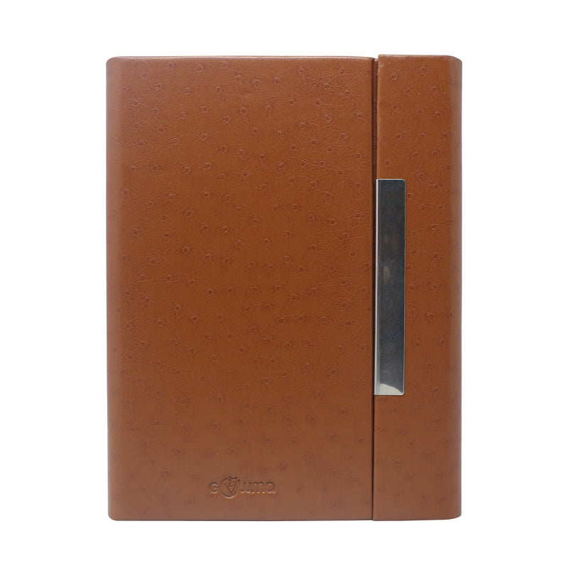 Diary - A5 magnetic - design brown - Gowma Non Leather Pvt Ltd