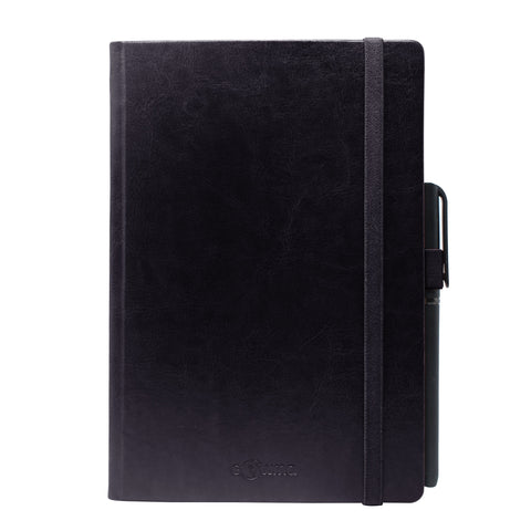 Diary - A5 dateless notebook with pen - Black