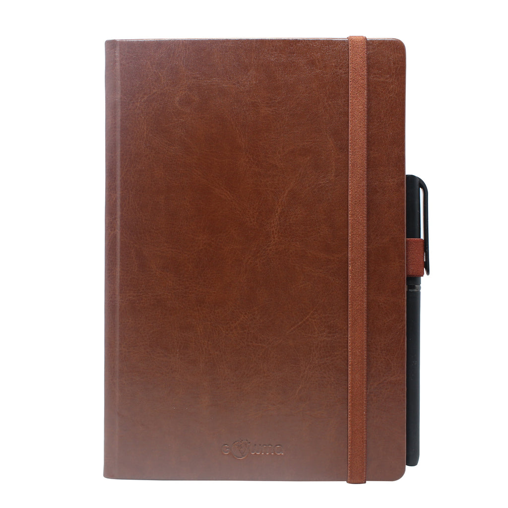 Diary - dateless diary with pen- Brown - Gowma Non Leather Pvt Ltd