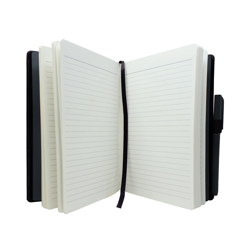 Diary - dateless diary with pen- Black - Gowma Non Leather Pvt Ltd