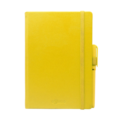 Diary - A5 dateless notebook with pen - Yellow