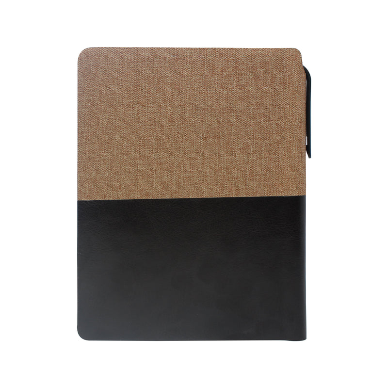 Diary - A6 dateless notebook with pen - Brown - Gowma Non Leather Pvt Ltd
