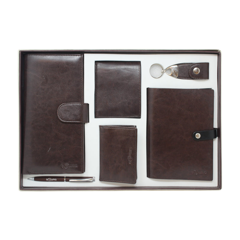 Gift set (6 in 1) - brown - Gowma Non Leather Pvt Ltd