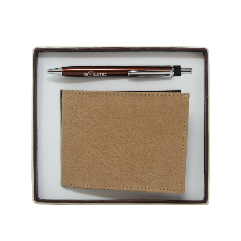 Gift Set (2 in 1) - Camel - Gowma Non Leather Pvt Ltd