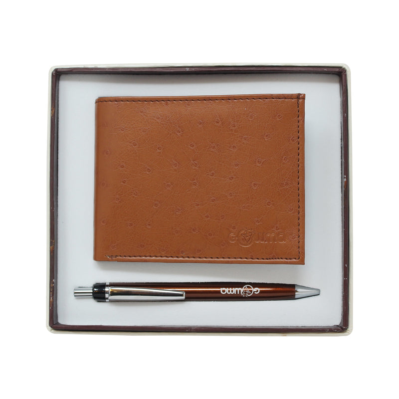 Gift Set (2 in 1) - Tan - Gowma Non Leather Pvt Ltd