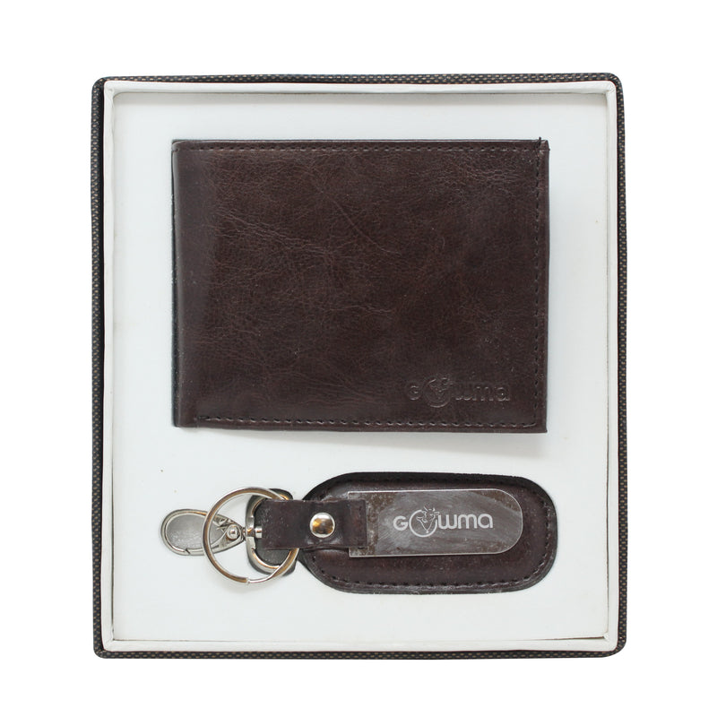 Gift Set (2 in 1) - Brown - Gowma Non Leather Pvt Ltd