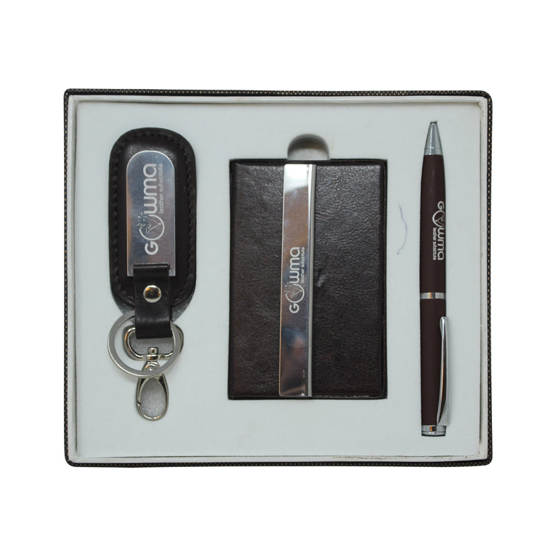 Gift Set (3 in 1) - Brown - Gowma Non Leather Pvt Ltd