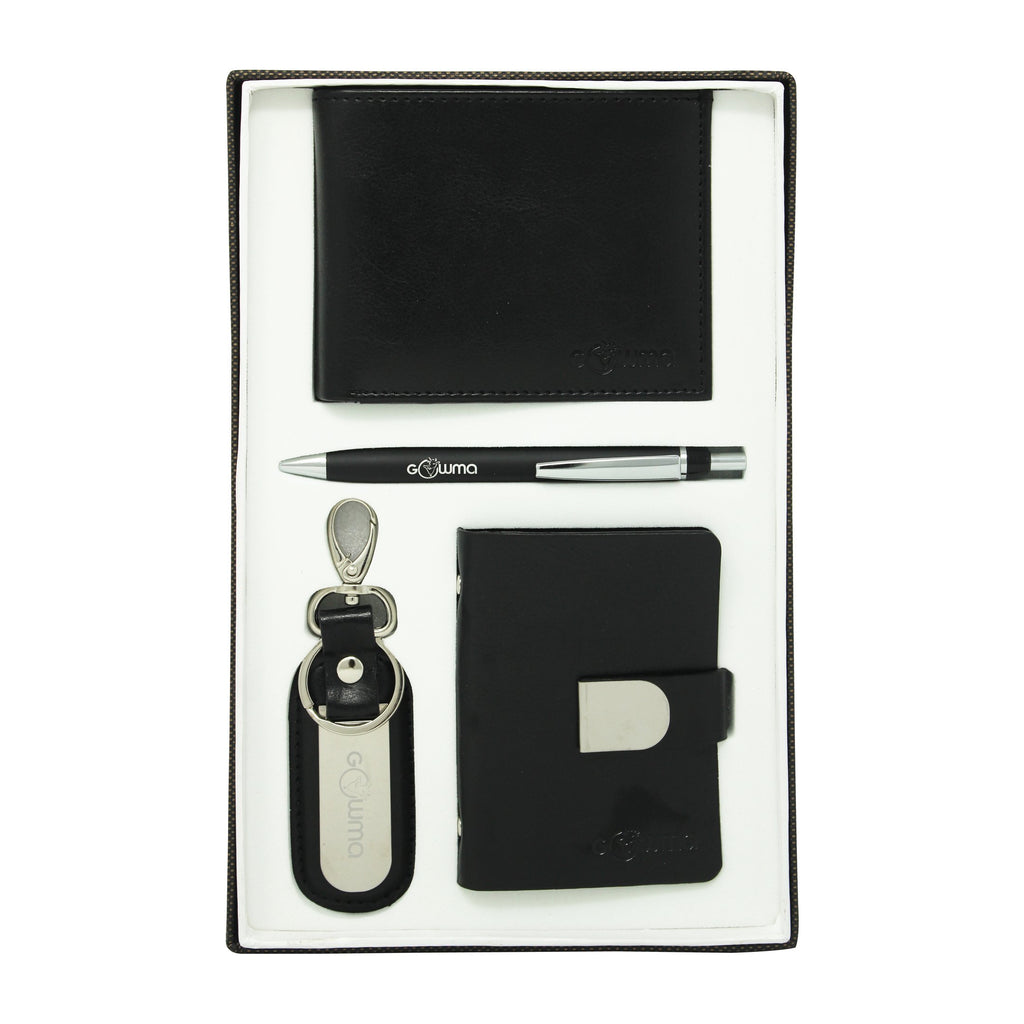 Gift Set (4 in 1) - Black - Gowma Non Leather Pvt Ltd