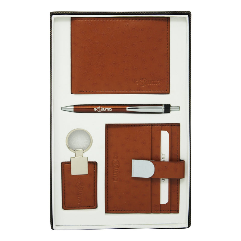 Gift Set (4 in 1) - Tan - Gowma Non Leather Pvt Ltd