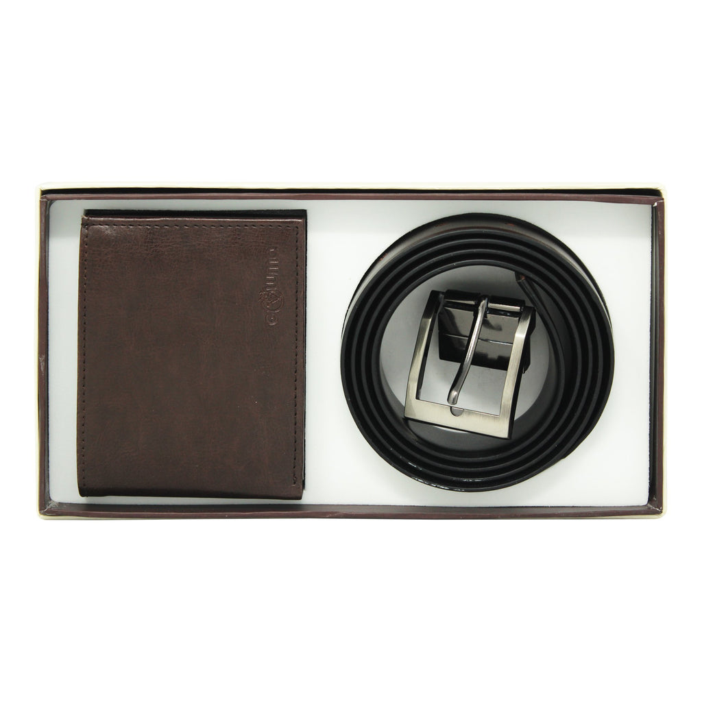 Gift Set ( 2-in-1) Gents Wallet, Reversible  Belt-gowma_non_leather