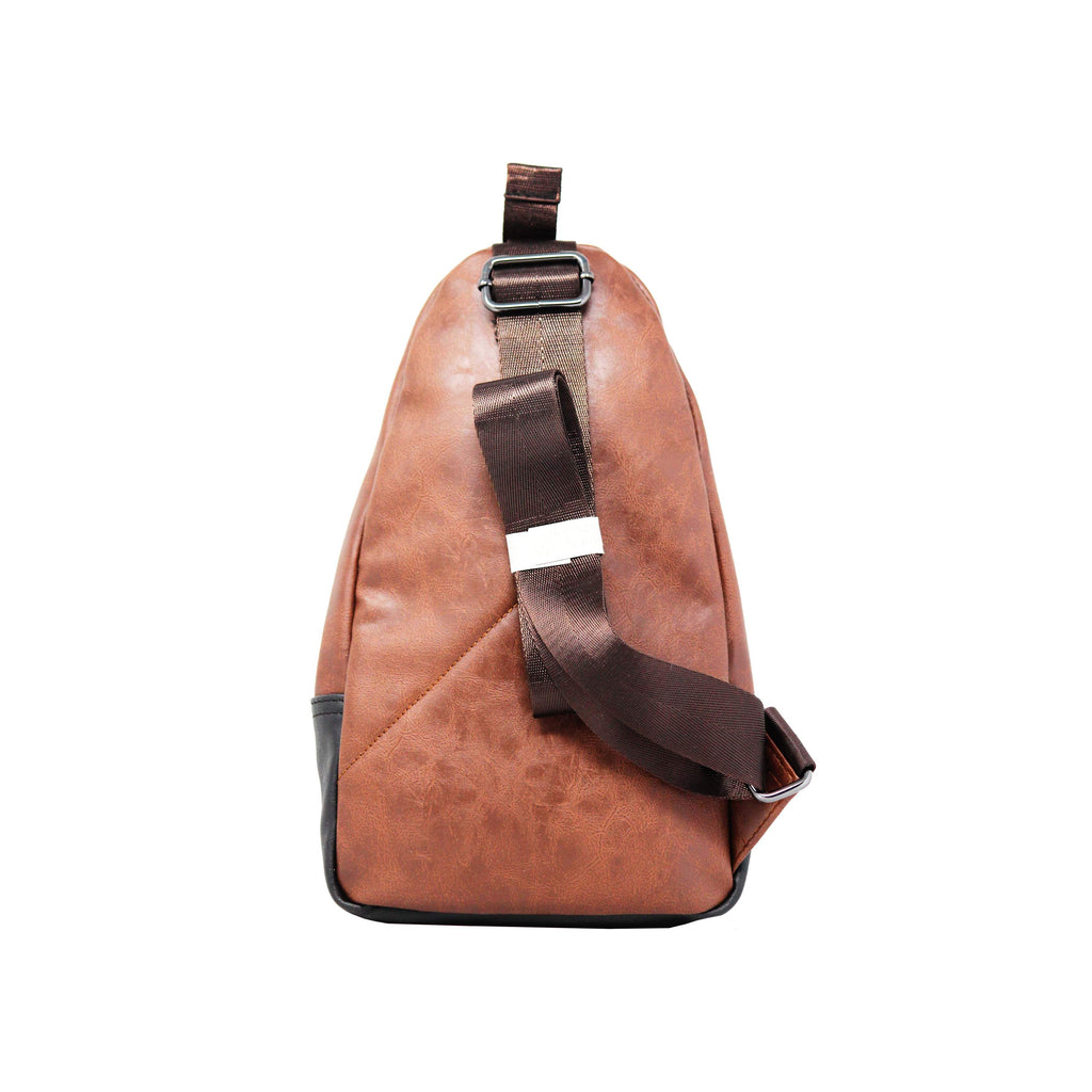 Cross Body Sling Bag - Brown-gowma_non_leather