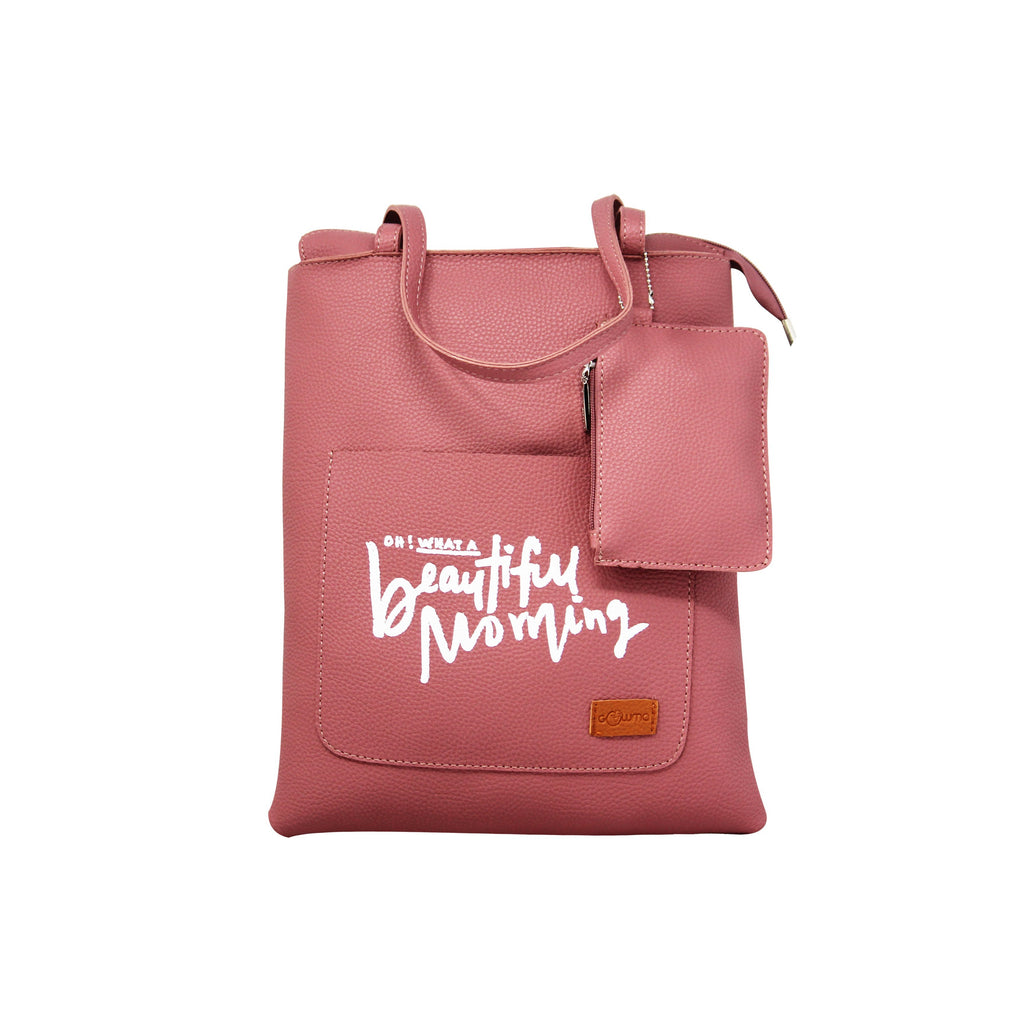 Shopping Bags with Message - Dark Pink-gowma_non_leather