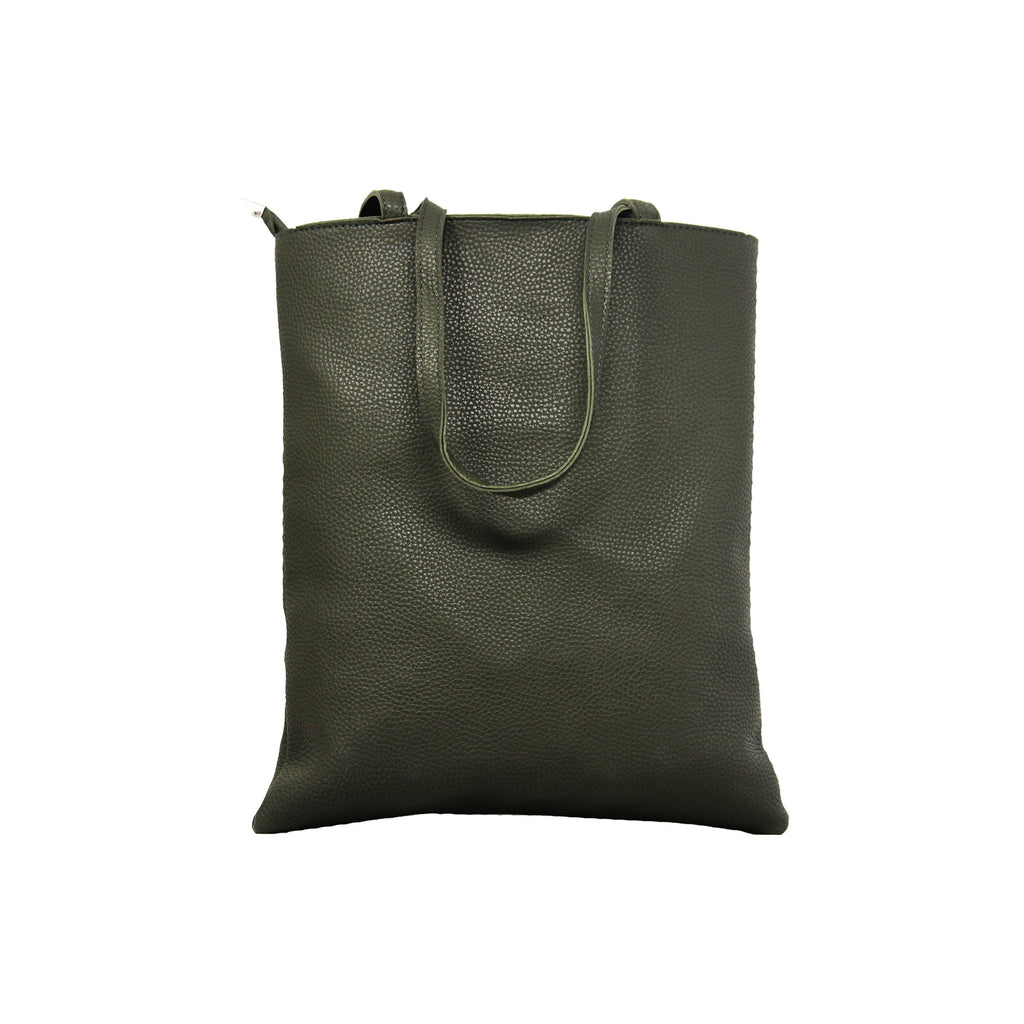 Shopping Bags with Message - Dark Green-gowma_non_leather