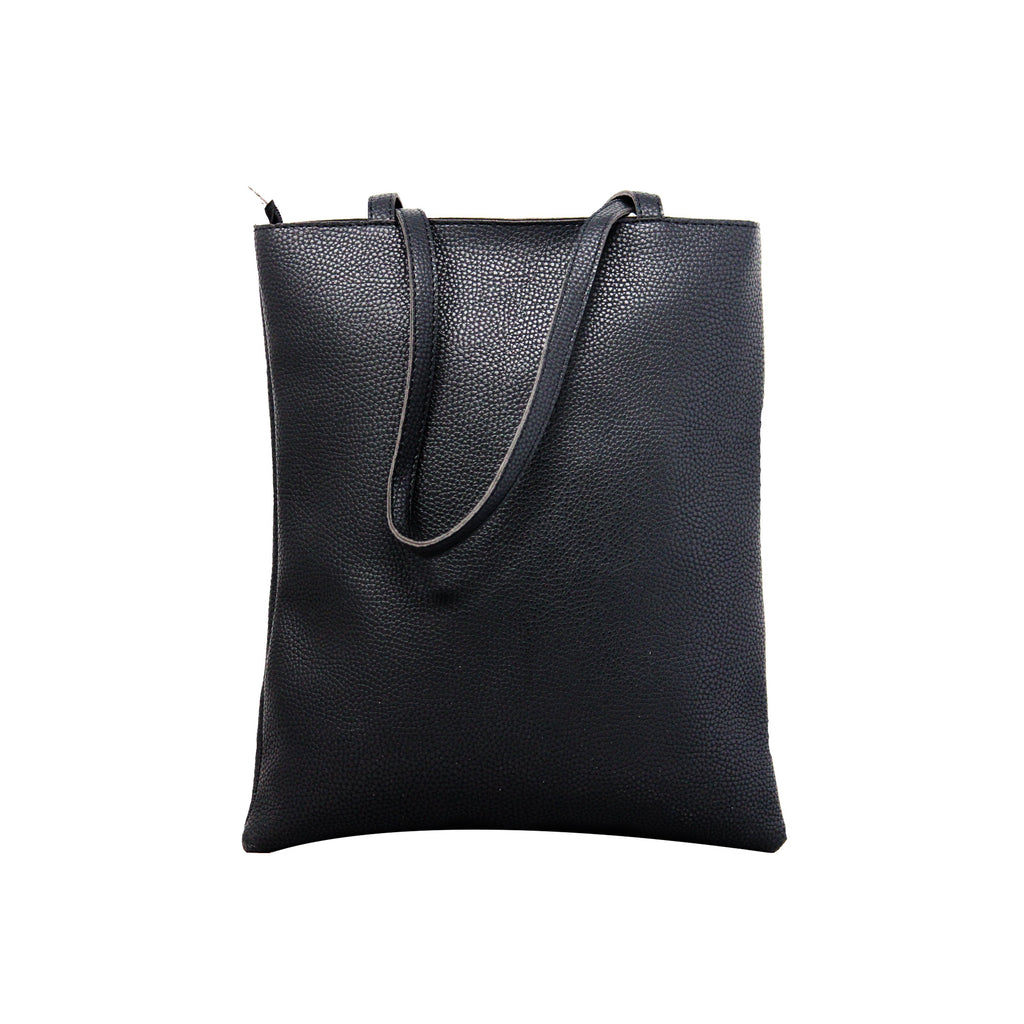 Shopping Bags with Message - Black-gowma_non_leather