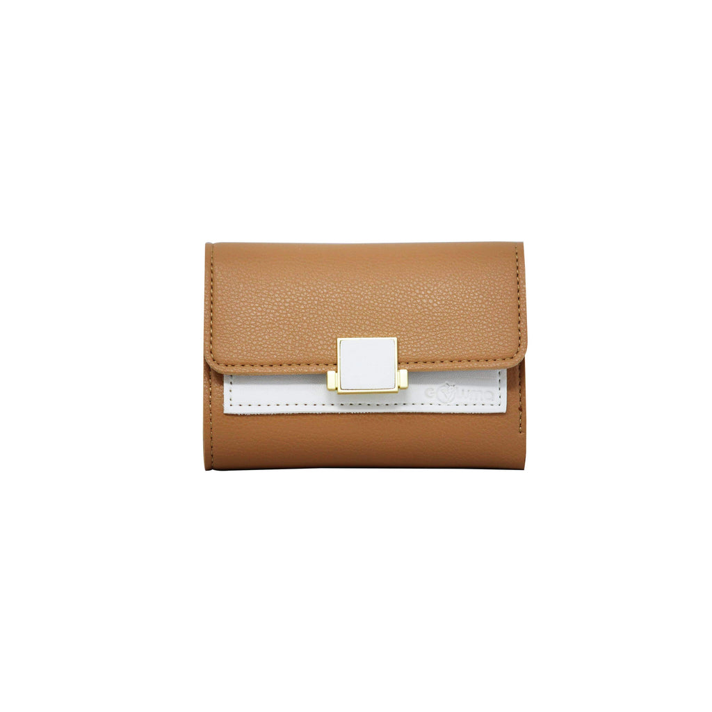 Clutch (DC) - Double color ladies clutch - Khaki-gowma_non_leather