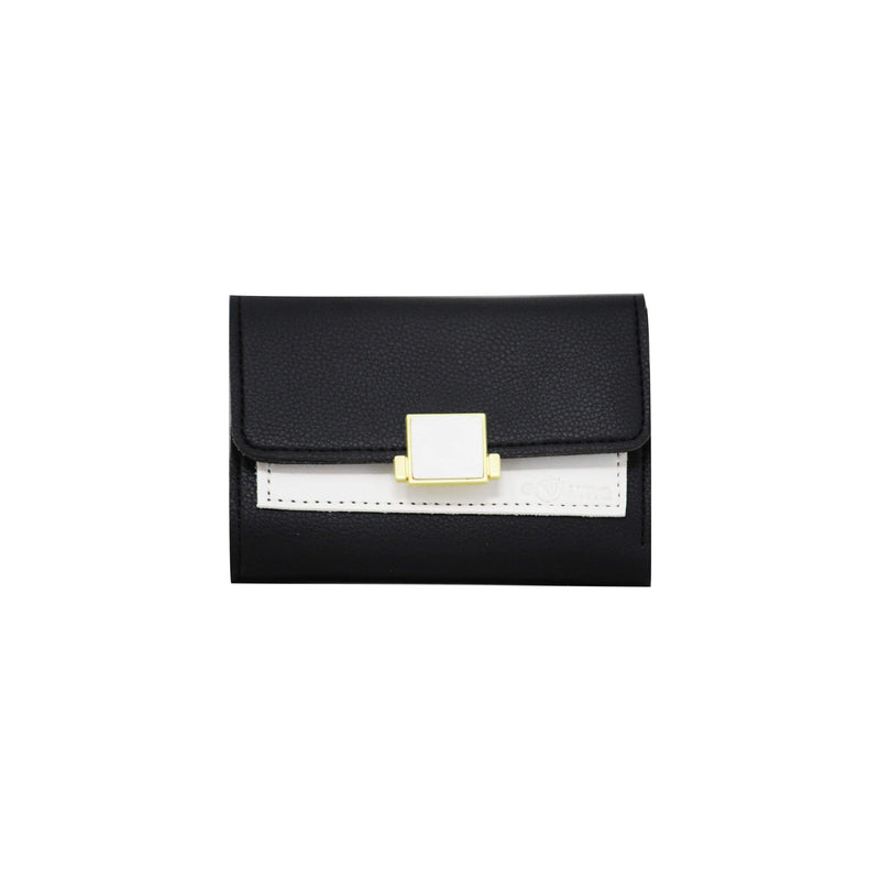 Clutch (DC) - Double color ladies clutch - Black-gowma_non_leather