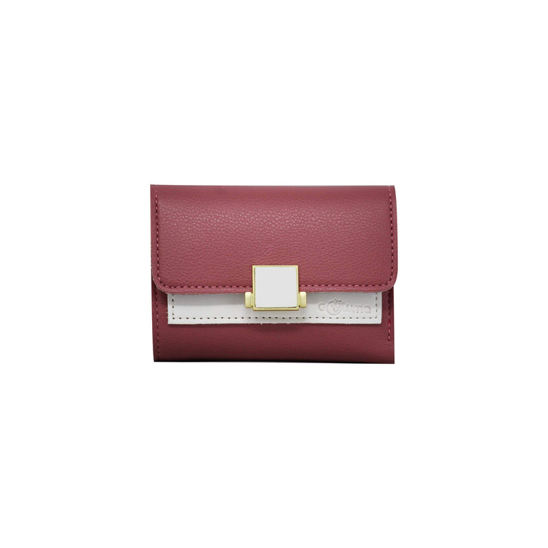 Clutch (DC) - Double color ladies clutch - Pink-gowma_non_leather