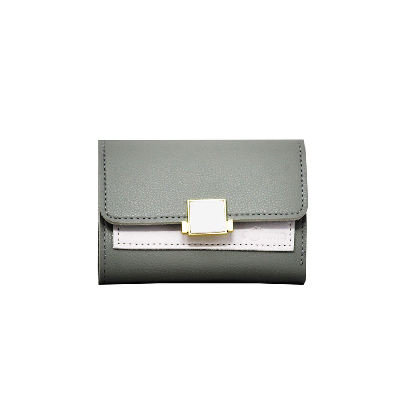 Clutch (DC) - Double color ladies clutch - Green-gowma_non_leather
