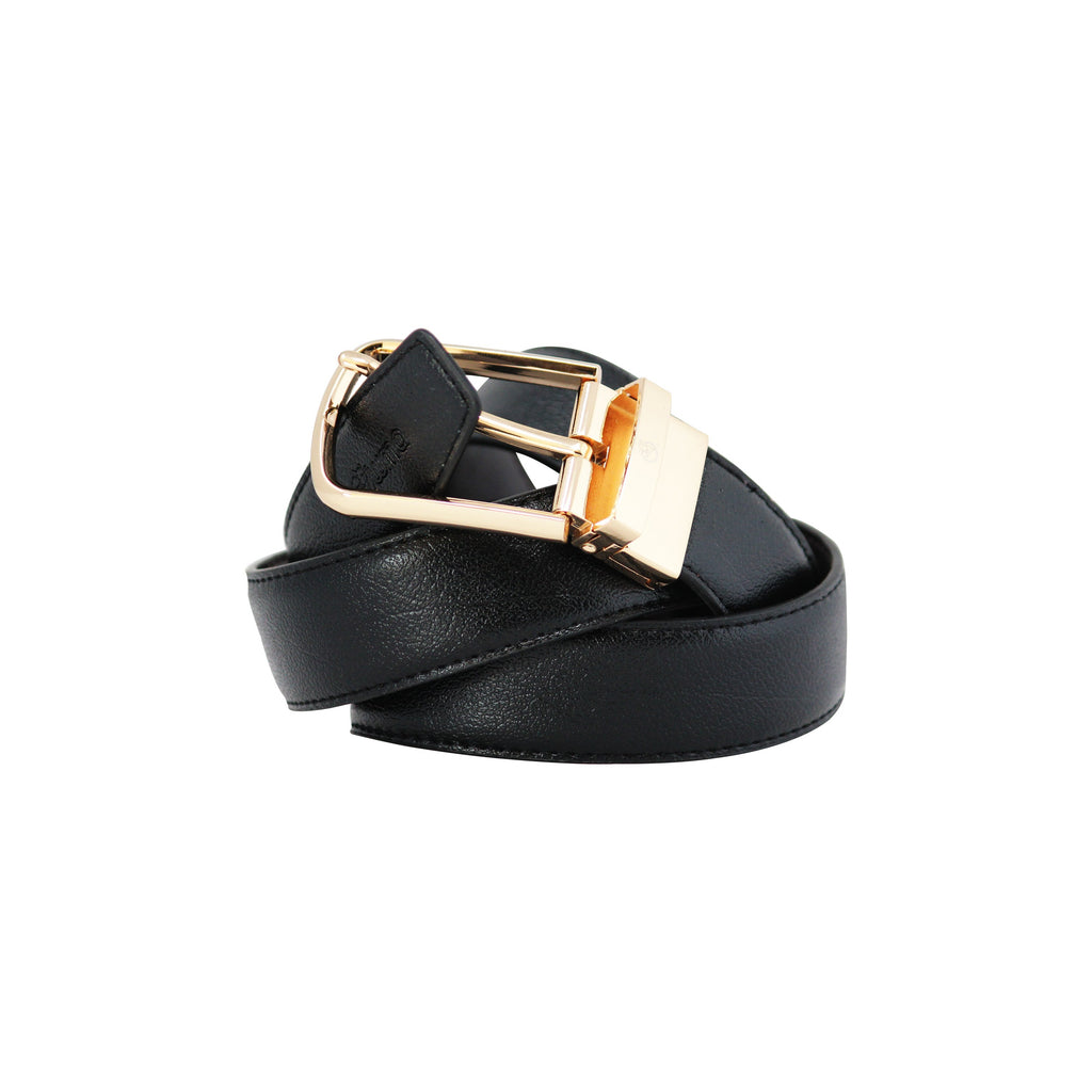 Reversable Buckle Belt D-shape Gold-gowma_non_leather