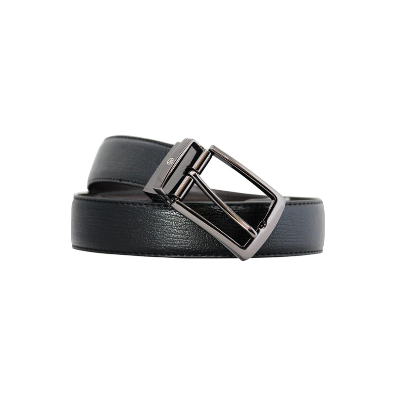 Reversable Buckle Belt - Curve Gray-gowma_non_leather