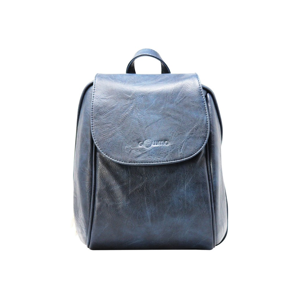 Oval Backpack (Dark Blue)-gowma_non_leather