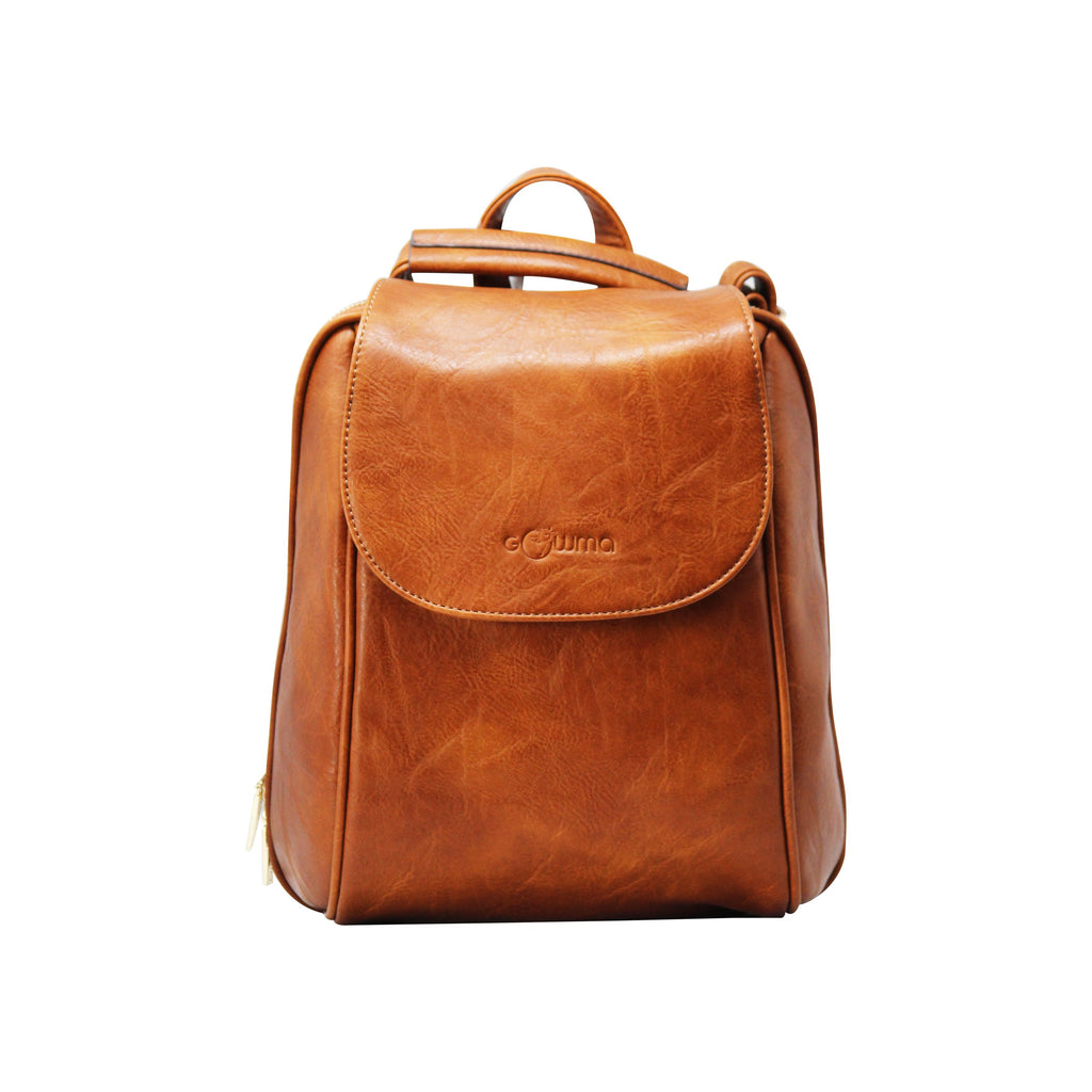 Oval Backpack (Coffee)-gowma_non_leather