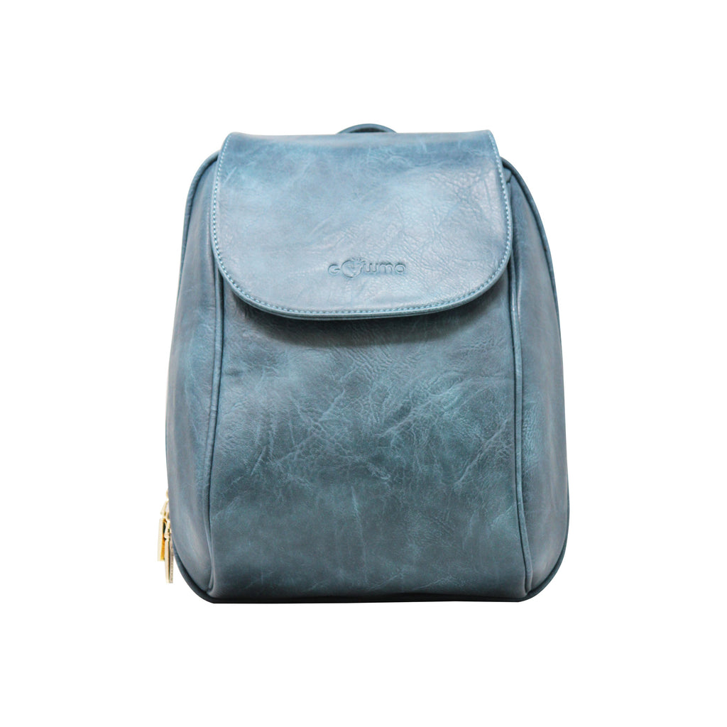 Oval Backpack (Light Blue)-gowma_non_leather