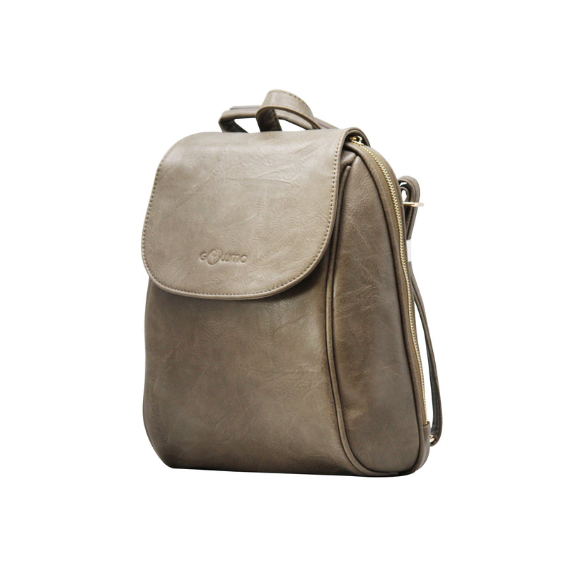 Oval Backpack (Gray)-gowma_non_leather
