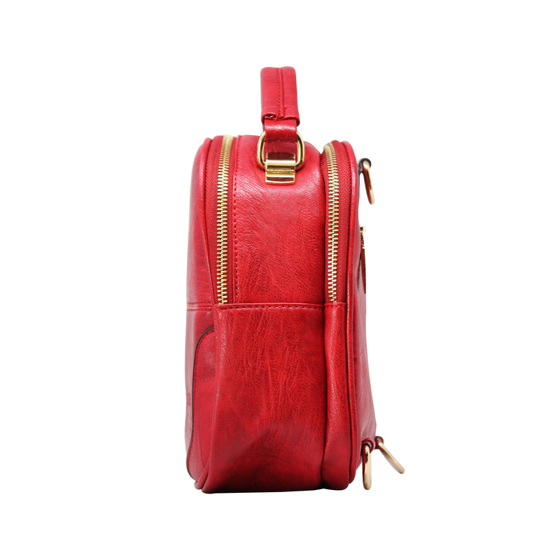 Sling Cum Handle Bag Backpack (RS-Red)-gowma_non_leather