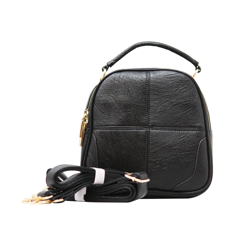 Sling Cum Handle Bag Backpack (RS-Black)-gowma_non_leather