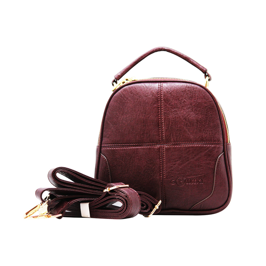 Sling Cum Handle Bag Backpack (RS-Purple)-gowma_non_leather