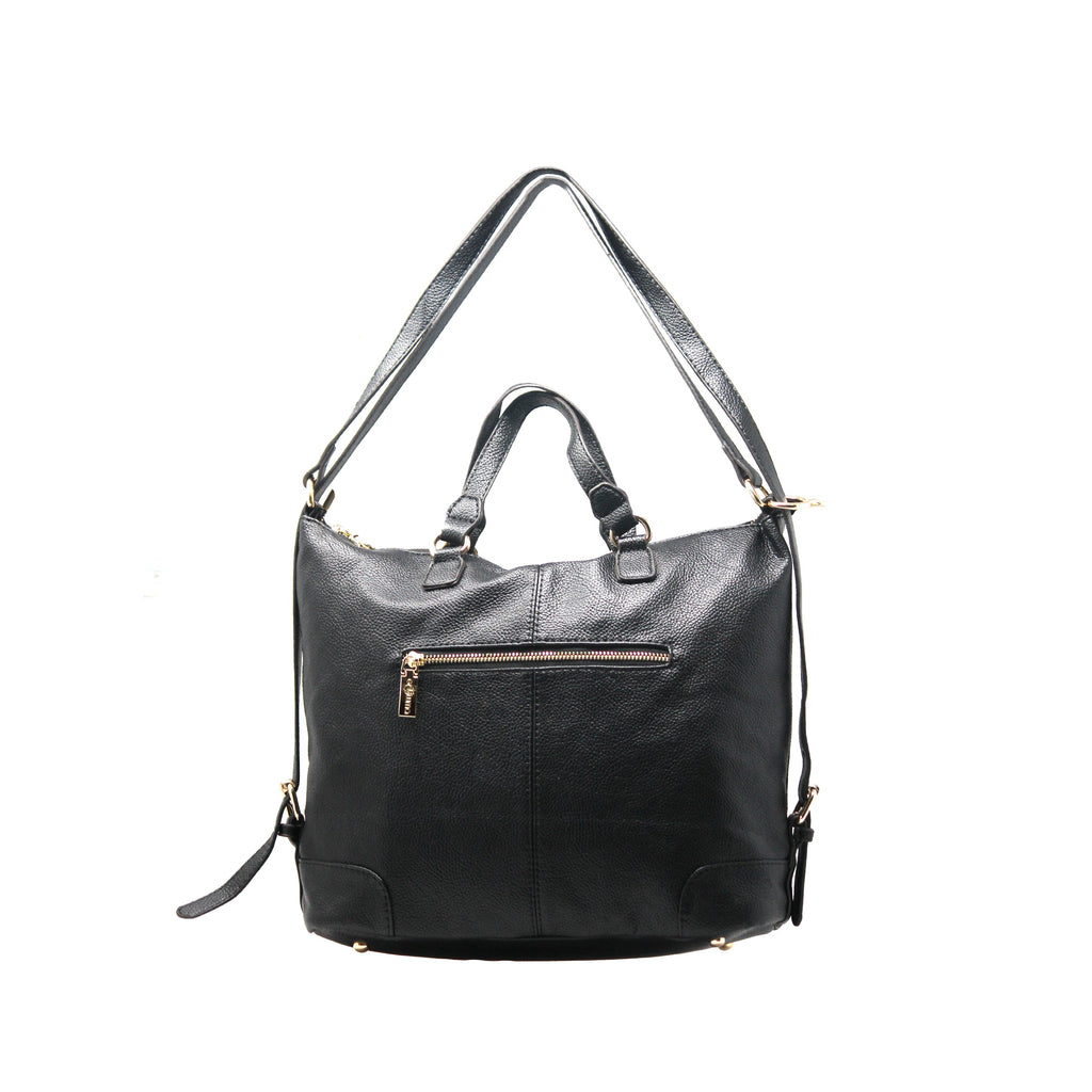 Handbag Cum Sling (VSS - Black)-gowma_non_leather