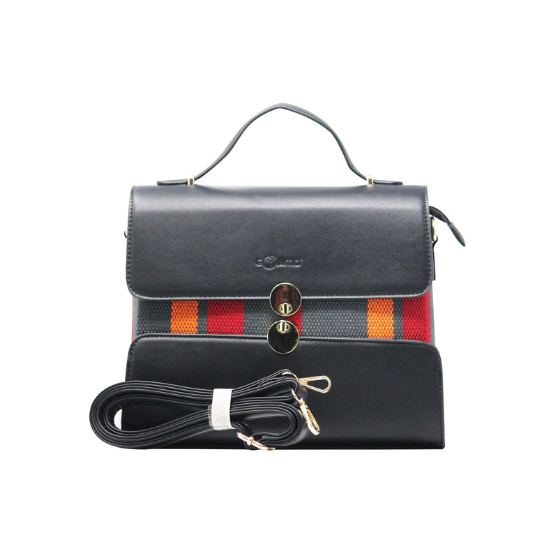 Handbag Cum Sling  (CB-Black) - Gowma Non Leather Pvt Ltd